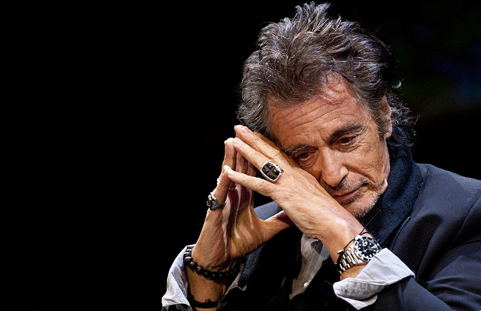 LONDON, ENGLAND - MAY 22: (EDITORS NOTE: Image has been digitally manipulated) Actor Al Pacino during An Evening With Al Pacino at Eventim Apollo on May 22, 2015 in London, England. (Photo by Eamonn M. McCormack/Getty Images)