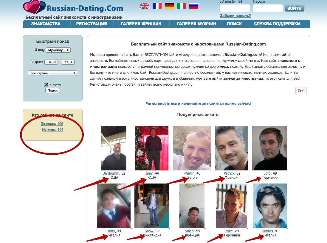 Из с сайты знакомства иностранцами европы